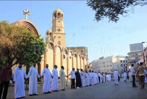 muslims protecting church