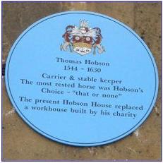 thomas hobson blue plaque