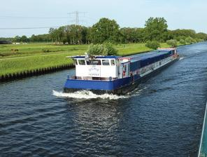 a barge carrying biomass